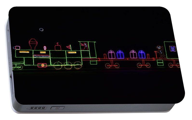 Portable Christmas Lights.Christmas Lights Train Panorama Portable Battery Charger