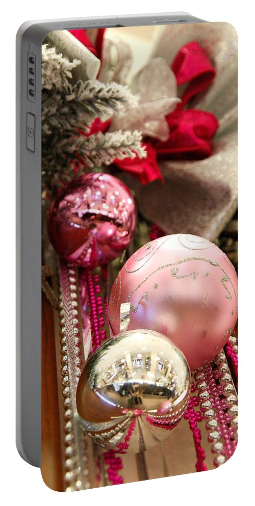 Holiday Portable Battery Charger featuring the photograph Christmas by Masha Batkova