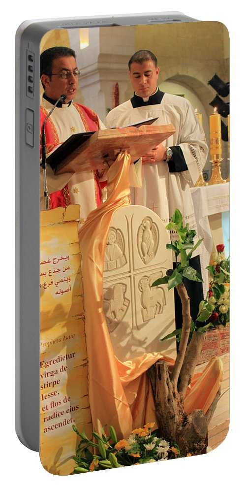 Christmas Portable Battery Charger featuring the photograph Christmas Mass by Munir Alawi