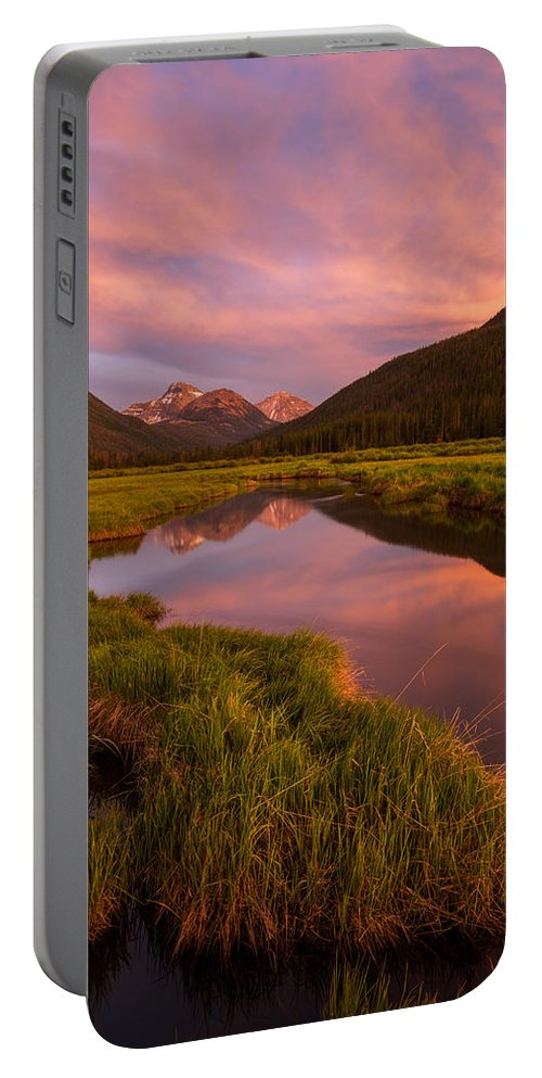 Utah Portable Battery Charger featuring the photograph Christmas Meadow by Dustin LeFevre