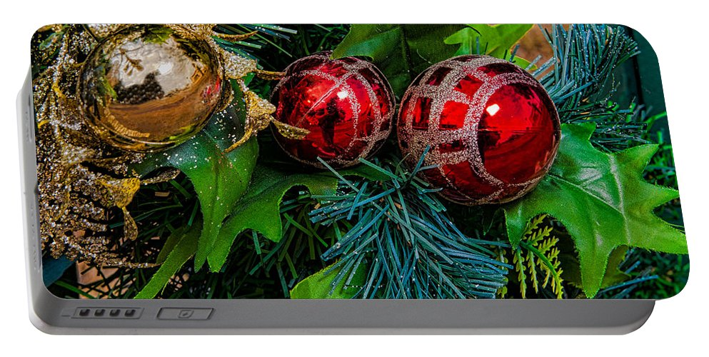 Christmas Portable Battery Charger featuring the photograph Christmas Ornaments by Christopher Holmes