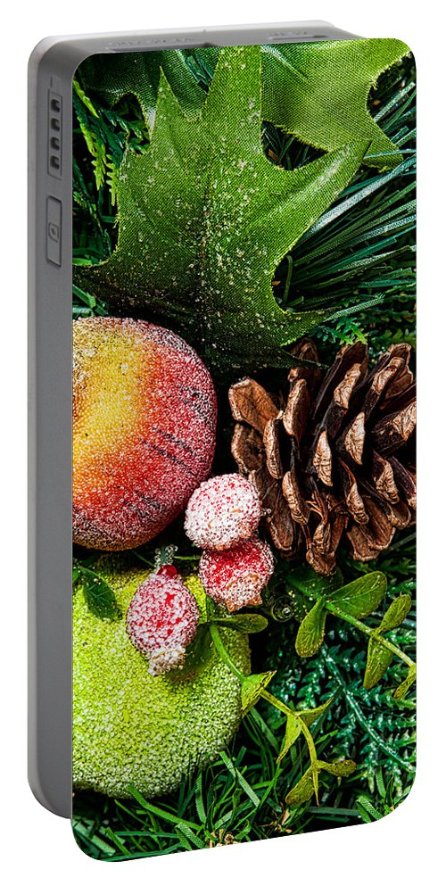 Christmas Portable Battery Charger featuring the photograph Christmas Ornaments II by Christopher Holmes