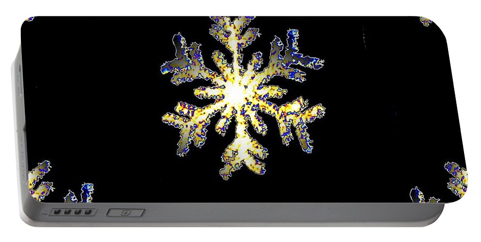 Snow Portable Battery Charger featuring the photograph Christmas Snowflakes by Tim Allen
