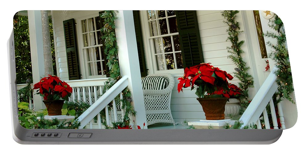 Christmas In Key West Portable Battery Charger featuring the photograph Christmas Spirit In Key West by Susanne Van Hulst
