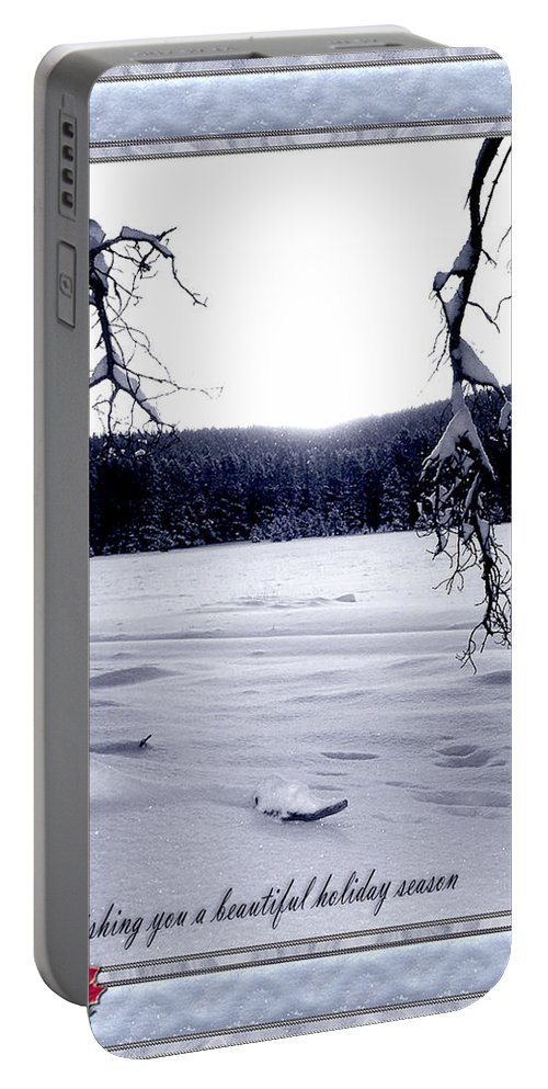 Christmas Portable Battery Charger featuring the photograph Christmas by Susan Kinney
