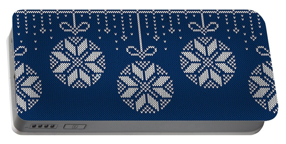 Christmas Portable Battery Charger featuring the digital art Christmas Sweater by Long Shot