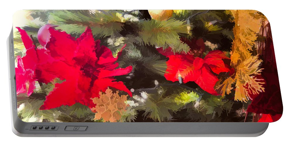 Christmas Tree Portable Battery Charger featuring the photograph Christmas Tree 6 by Kristalin Davis