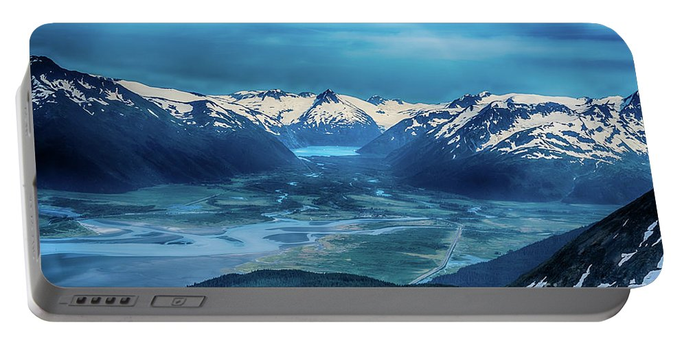 Aerial View Portable Battery Charger featuring the photograph Chugach Mountain Range by Heather Hubbard