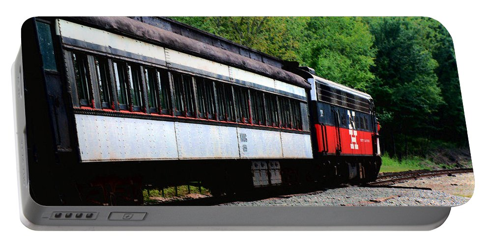 Train Portable Battery Charger featuring the photograph Chugging Along by RC DeWinter