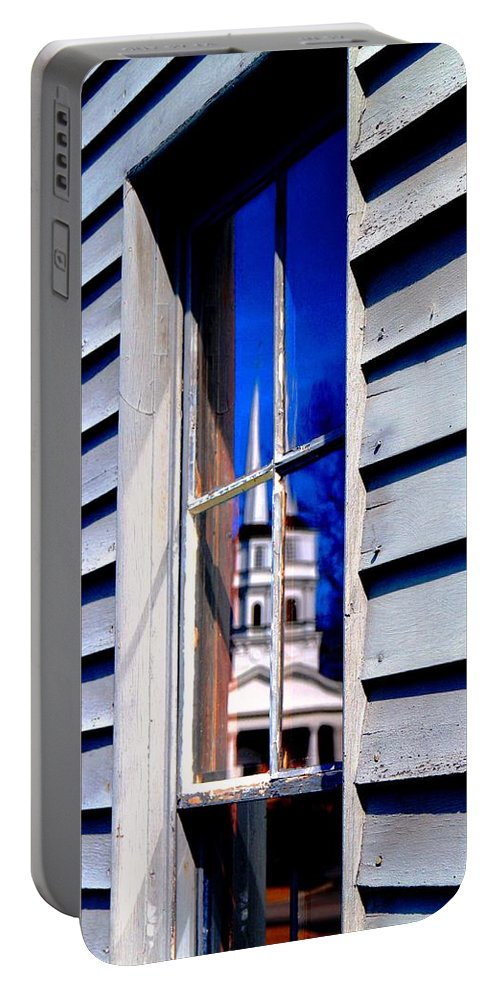 Portable Battery Charger featuring the photograph Church And State by Daniel Thompson