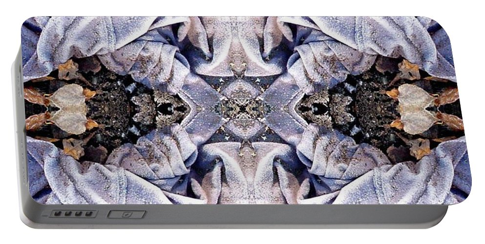 Abstract Portable Battery Charger featuring the digital art Church Clothing by Ron Bissett