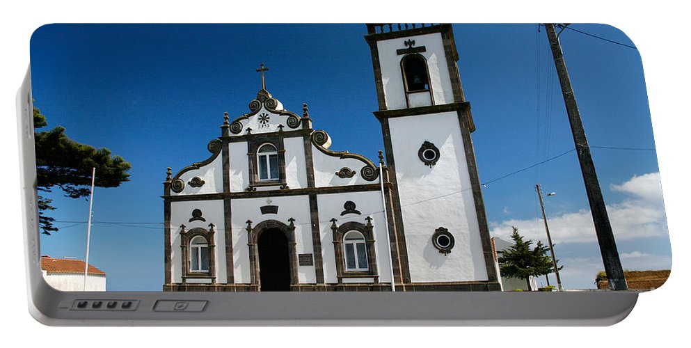 Sao Miguel Portable Battery Charger featuring the photograph Church In The Azores by Gaspar Avila