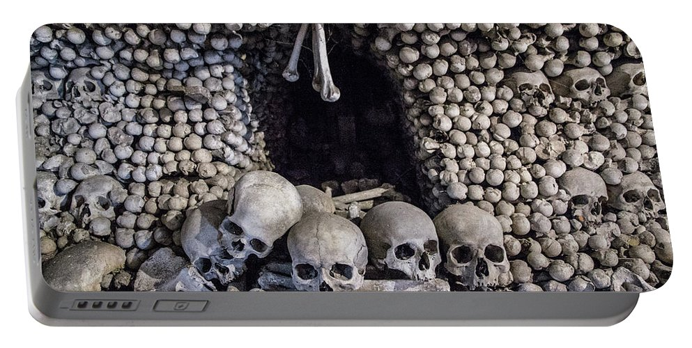 Bohemia Portable Battery Charger featuring the photograph Church Of The Bones by Emily M Wilson