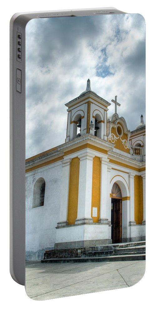 Quetzaltenango Portable Battery Charger featuring the photograph Church Of The Transfiguration Quetzaltenango Guatemala 5 by Douglas Barnett
