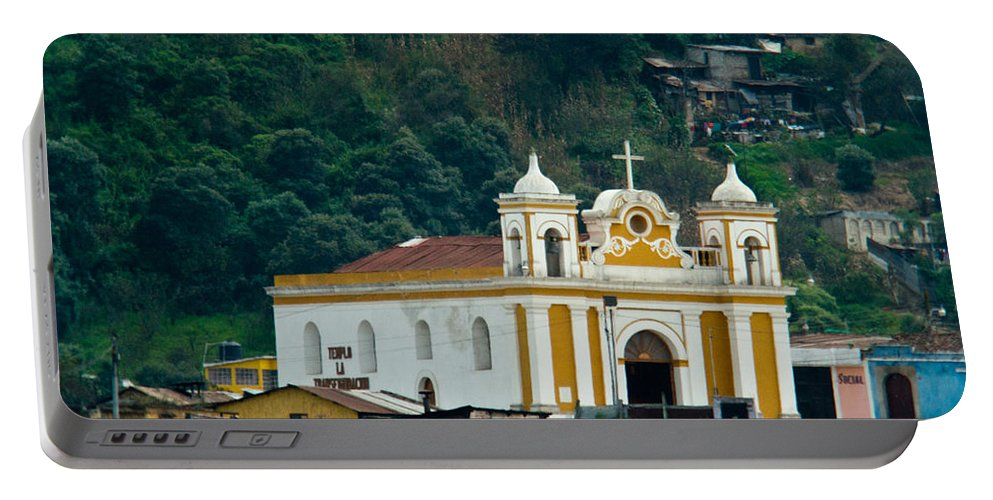 Church Portable Battery Charger featuring the photograph Church Of The Transfiguration Quetzaltenango Guatemala by Douglas Barnett