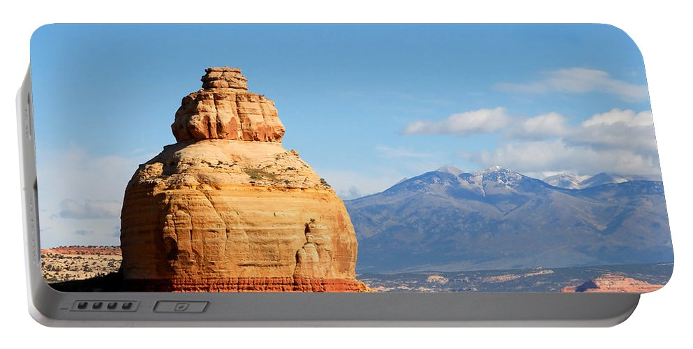 Church Rock Utah Portable Battery Charger featuring the photograph Church Rock Utah by David Lee Thompson