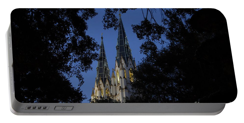 Church Steeple Portable Battery Charger featuring the photograph Church Steeples by David Lee Thompson