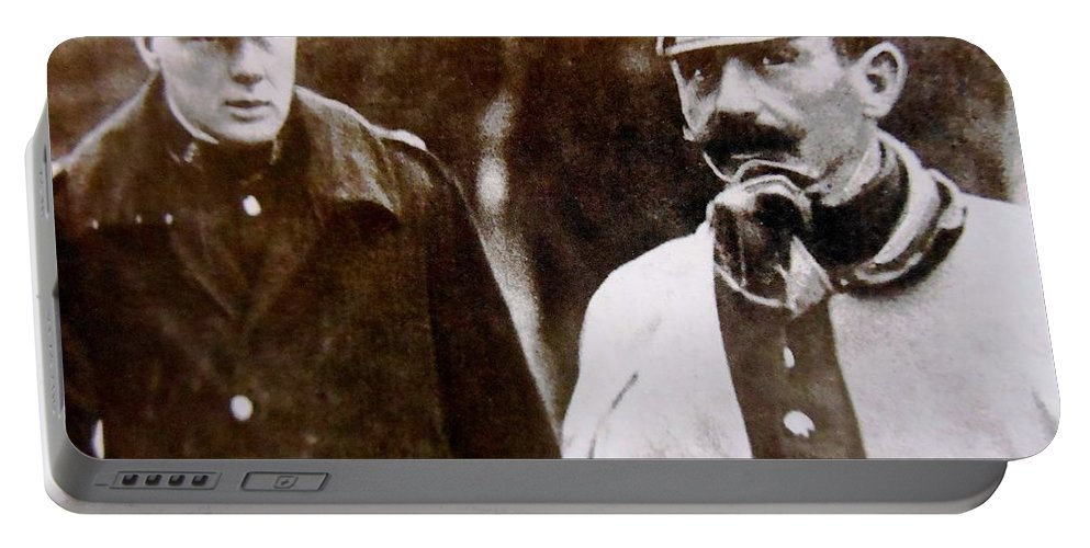 Photo Portable Battery Charger featuring the photograph Churchill by Lord Frederick Lyle Morris - Disabled Veteran