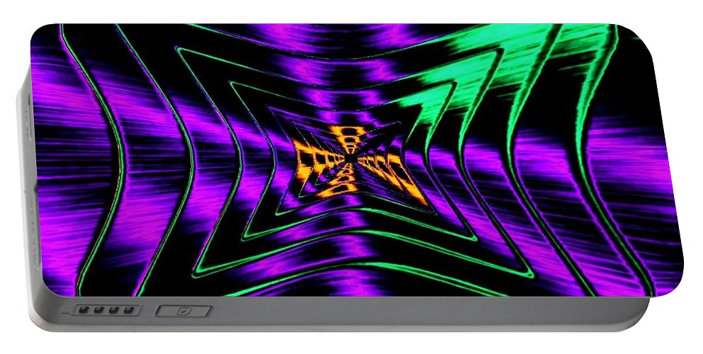 Chutzpah Portable Battery Charger featuring the digital art Chutzpah by Will Borden