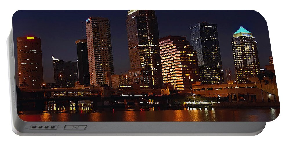 Tampa Florida Portable Battery Charger featuring the photograph Cigar City by David Lee Thompson
