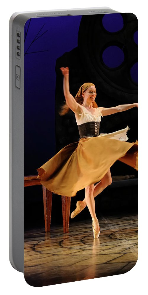 Cinderella Portable Battery Charger featuring the photograph Cinderella At Home In Rags En Pointe With One Shoe After The Bal by Reimar Gaertner
