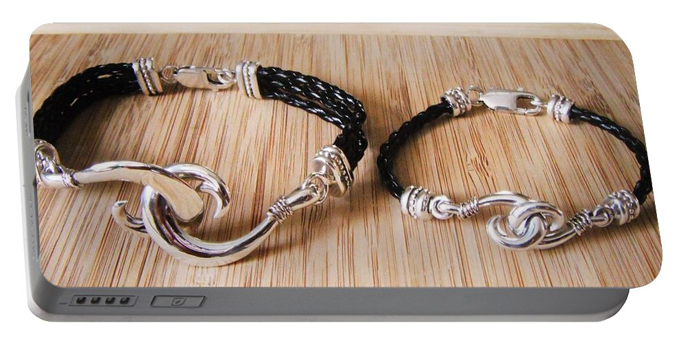 Circle Hook Portable Battery Charger featuring the jewelry Circle Hook Bracelet by Carey Chen