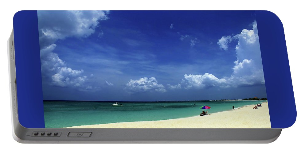Grand Portable Battery Charger featuring the photograph Circle Of Clouds On Grand Cayman by Marie Hicks
