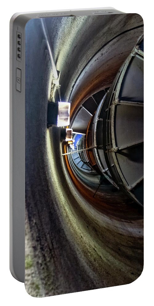 Staircase Portable Battery Charger featuring the photograph Circular Staircase by Albert Seger