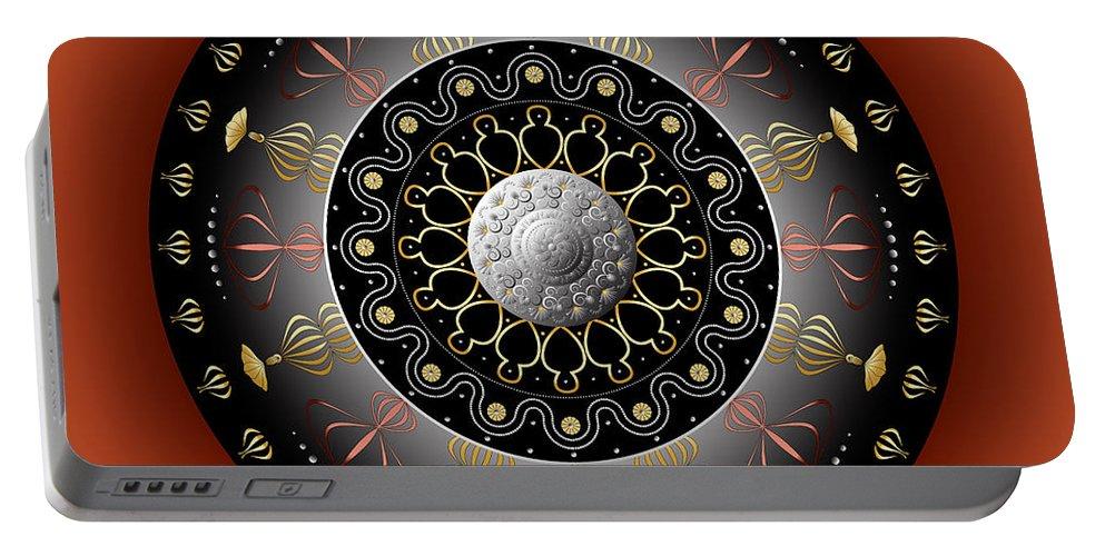 Mandala Portable Battery Charger featuring the digital art Circulosity No 2928 by Alan Bennington