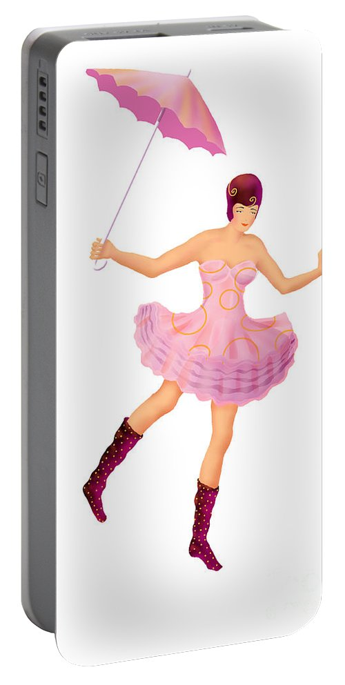 Ballerina Portable Battery Charger featuring the digital art Circus 3 by Ursula Koehrer