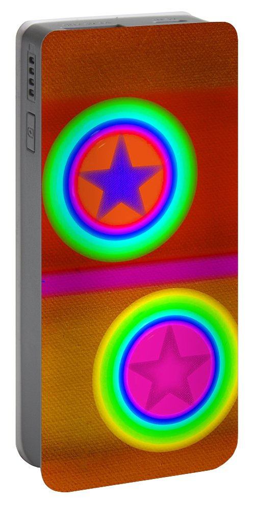 Balance Portable Battery Charger featuring the painting Circus Balls by Charles Stuart