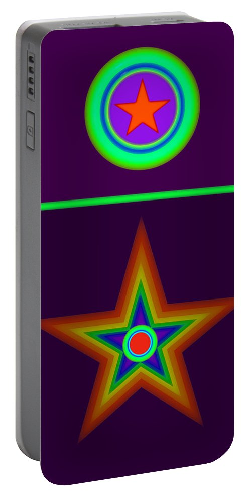 Circus Portable Battery Charger featuring the painting Circus Classique by Charles Stuart