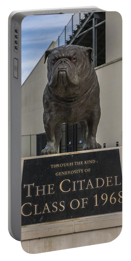 Citadel Portable Battery Charger featuring the photograph Citadel Bulldog by Dale Powell
