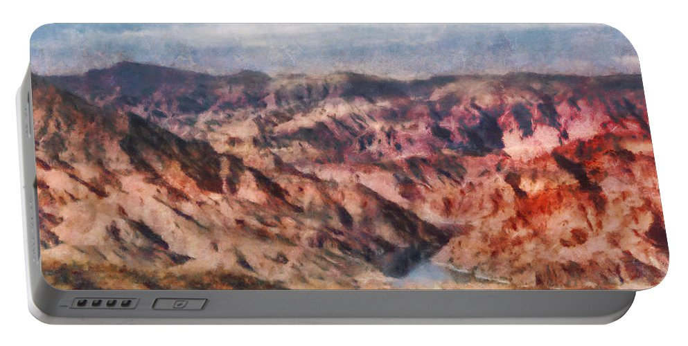Savad Portable Battery Charger featuring the photograph City - Arizona - Grand Hills by Mike Savad