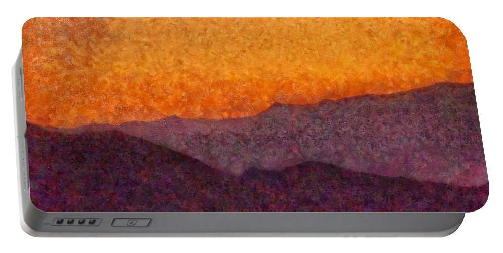 Savad Portable Battery Charger featuring the photograph City - Arizona - Rolling Hills by Mike Savad