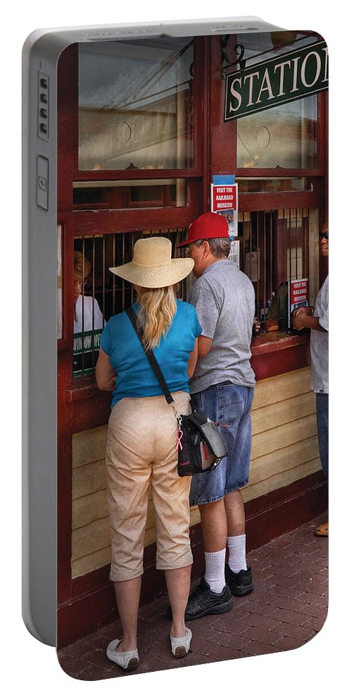 Savad Portable Battery Charger featuring the photograph City - Lancaster Pa - The Train Station by Mike Savad