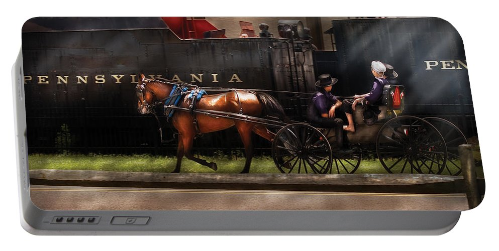 Savad Portable Battery Charger featuring the photograph City - Lancaster Pa - You Got To Love Lancaster by Mike Savad