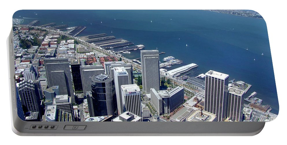 San Francisco Portable Battery Charger featuring the photograph City By The Bay by Donna Blackhall