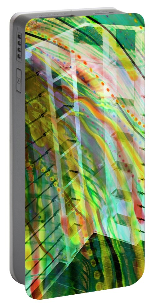 City Portable Battery Charger featuring the photograph City In Motion 56 by Don Zawadiwsky