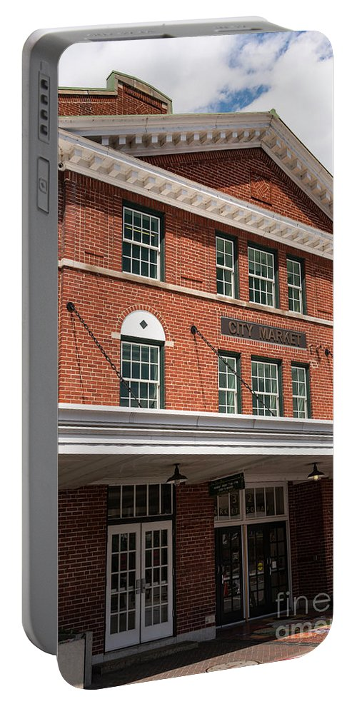 Roanoke Virginia City Market Markets Architecture Building Buildings Structure Structures Cities Cityscape Cityscapes Shop Shops Portable Battery Charger featuring the photograph City Market by Bob Phillips
