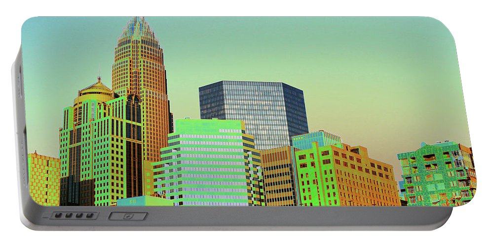 Charlotte Portable Battery Charger featuring the photograph City Of Colors by Karol Livote