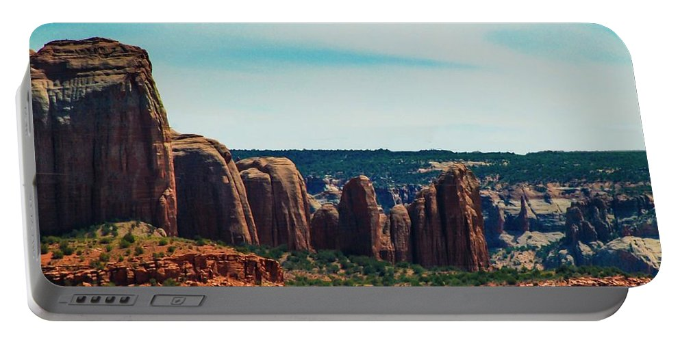 Landscape Portable Battery Charger featuring the photograph City Of Stones by Melissa McInnis
