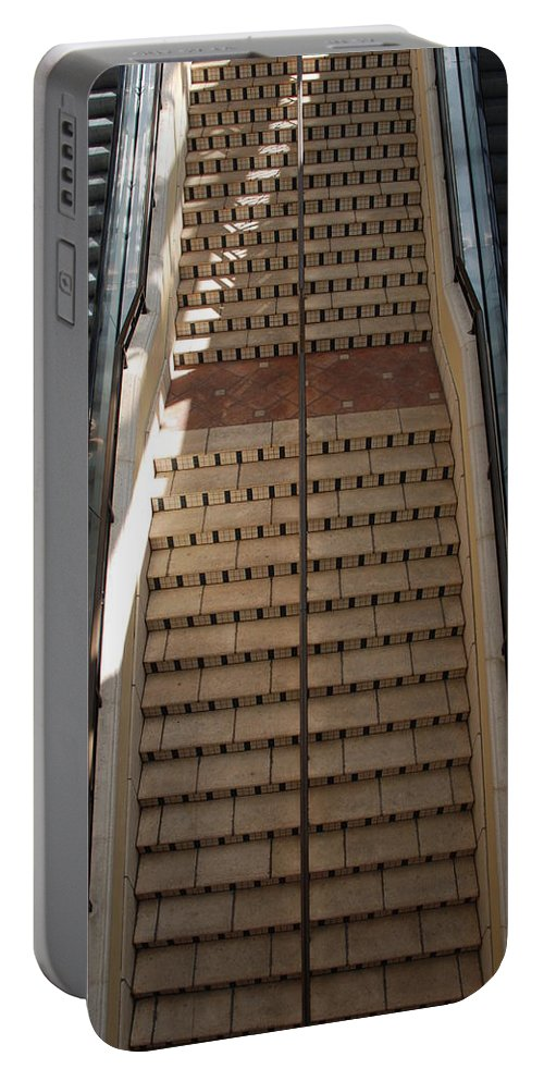 Stairs Portable Battery Charger featuring the photograph City Place Stairs by Rob Hans