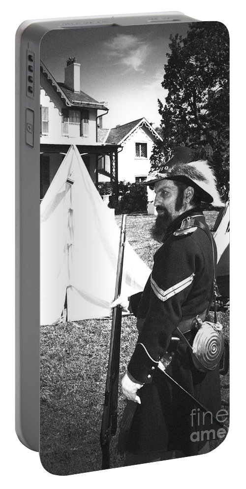 Lincoln Portable Battery Charger featuring the photograph Civil War At The Lincoln Cottage by Jost Houk