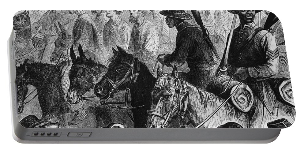 1864 Portable Battery Charger featuring the photograph Civil War: Prisoner, 1864 by Granger