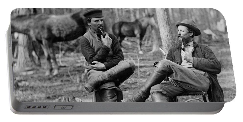 1864 Portable Battery Charger featuring the photograph Civil War: Soldiers, 1864 by Granger