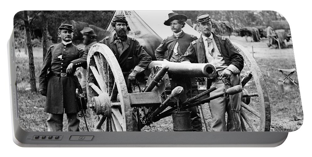 1862 Portable Battery Charger featuring the photograph Civil War - Union Officers by Granger
