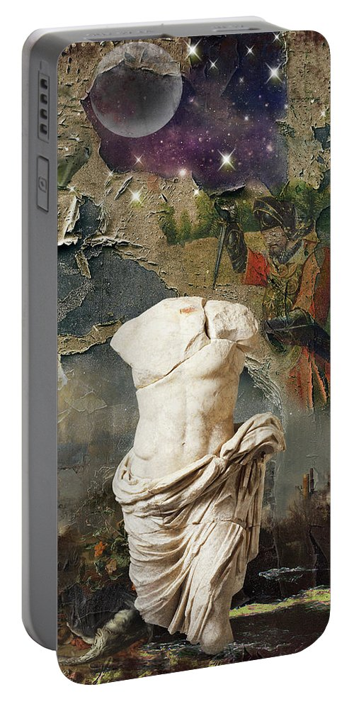 Decay Portable Battery Charger featuring the digital art Civilization I by Debbra Jansen
