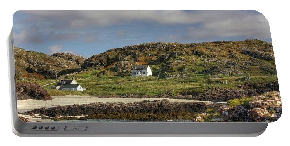 Scotland Portable Battery Charger featuring the photograph Clachtoll Beach by Colette Panaioti