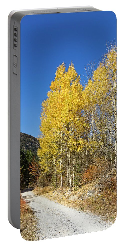 Colors Of Fall Portable Battery Charger featuring the photograph Claree Valley In Autumn - 11 - French Alps by Paul MAURICE